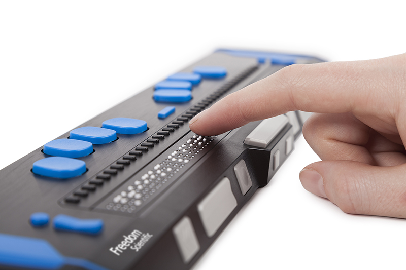 focus blue braille display
